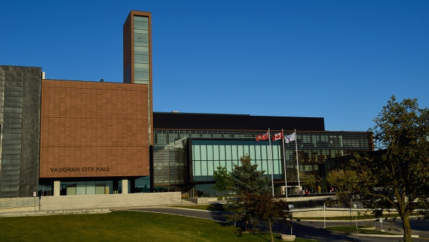 Vaughan City Hall is seen in Sept. 2015. (Wikimedia Commons/Rayson Ho)