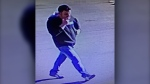 Surveillance image of a suspect who was allegedly involved in a July 25 break-and-enter and assault on Columbia Blvd. W (LPS)
