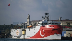 Turkey has dispatched a research vessel for exploration off a Greek island, heightening tensions over disputed maritime rights. (AFP)