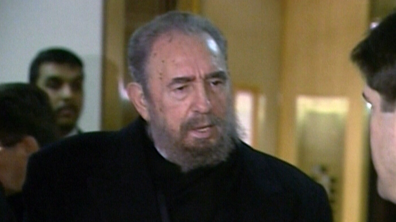 Fidel Castro speaks in Vancouver