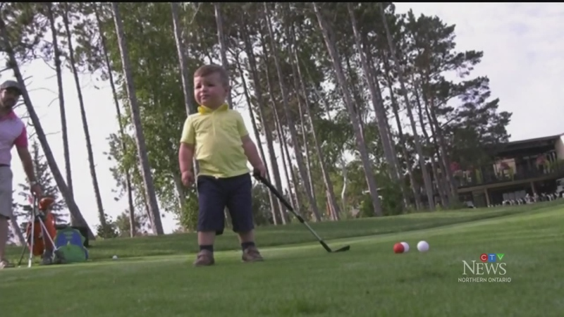 Big golfing title for little Sudbury area tot