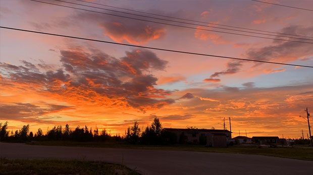 Beautiful sunrise in Chemawawin Cree Nations. Photo by Skyler Ledoux.