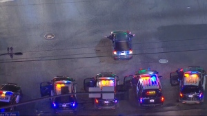 Police chase in L.A. ends abruptly