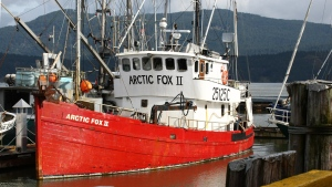 The U.S. Coast Guard says one fisherman was found in a lifeboat early Tuesday morning after the 20-metre Arctic Fox II fishing boat began to take on water approximately 137 kilometres off Cape Flattery, southwest of Victoria. (marinetraffic.com)