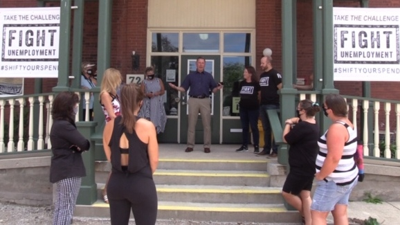 The Fight Unemployment pilot project is launched in Seaforth, Ont. on Tuesday, Aug. 11, 2020. (Scott Miller / CTV News)