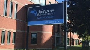 Rainbow District School Board office in Sudbury. Aug. 11/20 (Alana Pickrell/CTV Northern Ontario)