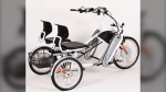 A tandem tricycle, much like this one, was taken from Yaletown House, a long-term seniors care home in Vancouver.