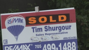 Real estate sold sign in North Bay (Eric Taschner/CTV Northern Ontario)