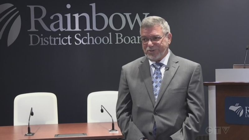 Norm Blaseg, Director of Education at Rainbow Distric School Board. Aug. 11/20 (Alana Pickrell/CTV Northern Ontario)