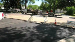 Construction on Bedford Road is pictured on Aug. 11, 2020. (Dan Shingoose/CTV Saskatoon)
