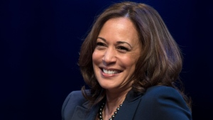 FILE - In this Jan. 9, 2019, file photo, kicking off her book tour, Sen. Kamala Harris, D-Calif., speaks at George Washington University in Washington. Democratic presidential candidate former Vice President Joe Biden has chosen Harris as his running mate. (AP Photo/Sait Serkan Gurbuz)
