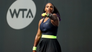 Serena Williams came back from the brink to start her first tournament in six months with a win. (Dylan Buell/Getty Images)