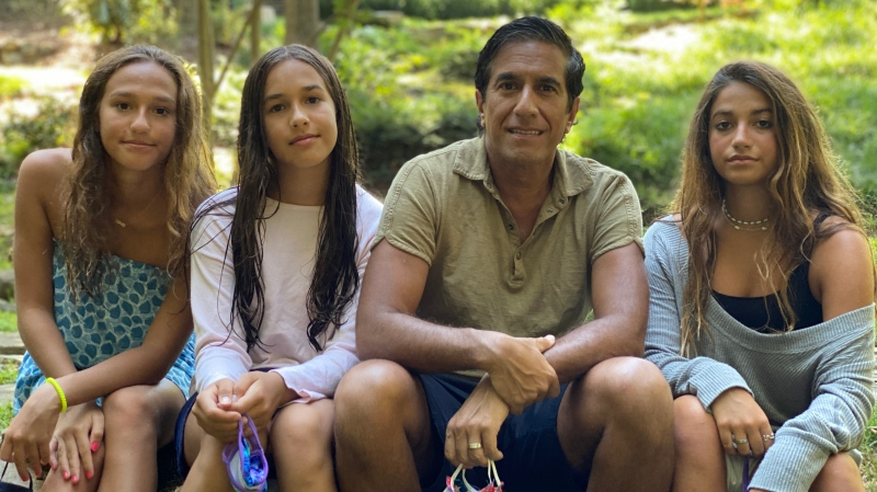 Dr. Sanjay Gupta with his three daughters, Sky, Soleil and Sage. (Courtesy Dr. Sanjay Gupta)