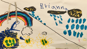 Brianna Lanthier, 4 years old, Ecole Catholique Saint-Guillaume in Vars