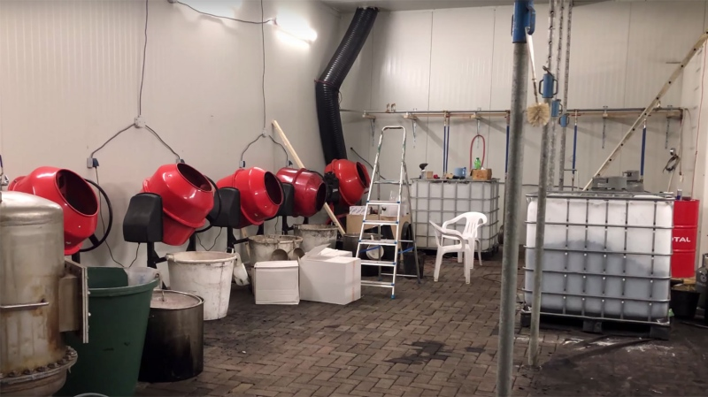 What is believed to be the biggest cocaine lab ever busted in The Netherlands was found at a former riding school. (Politie Landelijke Eenheid / CNN)