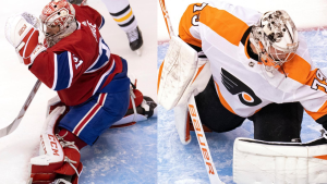 The duel of Carey Price versus the kid from Alberta that grew up idolizing him in Carter Hart could be what decides the Habs v. Flyers series. THE CANADIAN PRESS/Frank Gunn