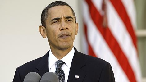 President Barack Obama speaks about winning the Nobel Peace Prize on Friday, Oct. 9, 2009. (AP / Alex Brandon)