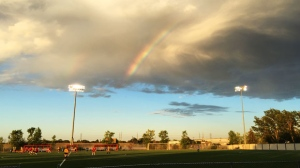 From last evening at my daughter's soccer game at Waverley Soccer Complex. Photo by Carol Nikkel.