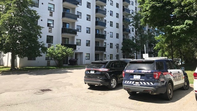 Police say they're executing a search warrant on Vanier Drive (Dave Pettitt / CTV News Kitchener)