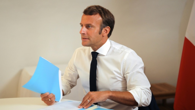 French President Emmanuel Macron, pictured August 11, 2020, who was the first world leader to visit Beirut after the explosion, has taken the lead role in coordinating the international response. (AFP)