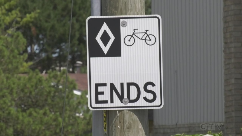 Bike sign in Bolton
