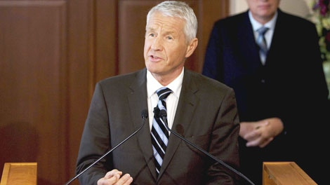 Chair of the Norwegian Nobel Committee, Thorbjorn Jagland, announces at The Norwegian Nobel Institute in Oslo that the Nobel Peace Prize 2009 is awarded US President Barack Obama, Friday Oct 9, 2009. (AP / Torbjorn Gronning)
