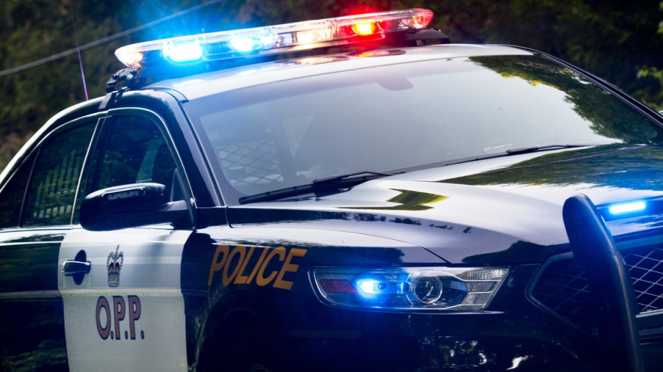 Ontario Provincial Police vehicle.
