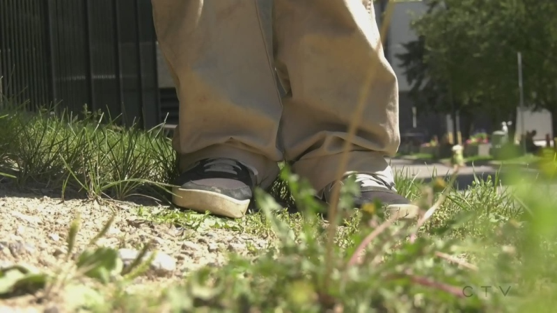 Sudbury person that has experienced homelessness. Aug. 12/20 (Ian Campbell/CTV Northern Ontario)