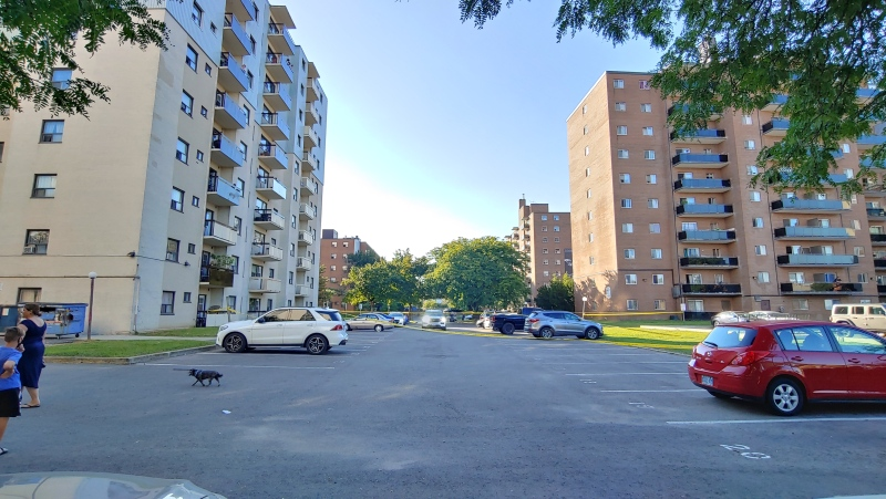 Peel police are investigating after a child was struck by a vehicle in Mississauga. (CTV News Toronto/Pascal Marchand)