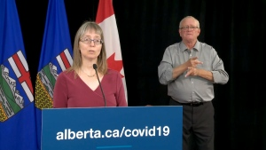 Dr. Deena Hinshaw, Alberta's chief medical officer of health, is recommending all teachers and school staff members be tested for COVID-19 before classes resume in September.