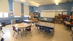 An empty classroom. (file)