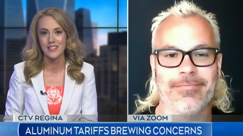 Gina Martin talks with the Craft Brewers Association about tariffs on Canadian aluminum. (CTV Regina)