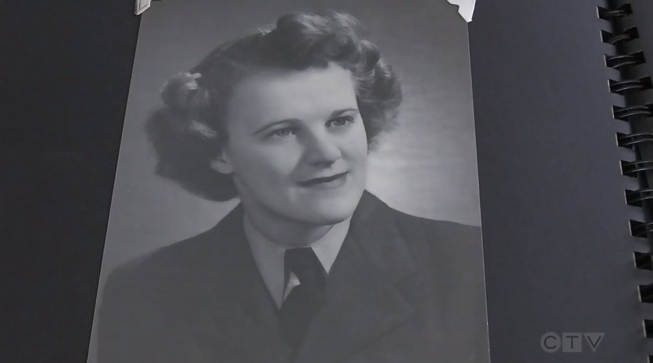 Marian Arseneault enlisted in the Royal Canadian Air Force during the Second World War and was stationed in Halifax where she worked in air traffic control.
