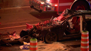 Two were seriously injured in an early morning accident on Highway 15 / Cosmo Santamaria, CTV Montreal