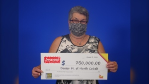 Denise Martel of North Cobalt won $250K in lottery scratch ticket. (OLG)