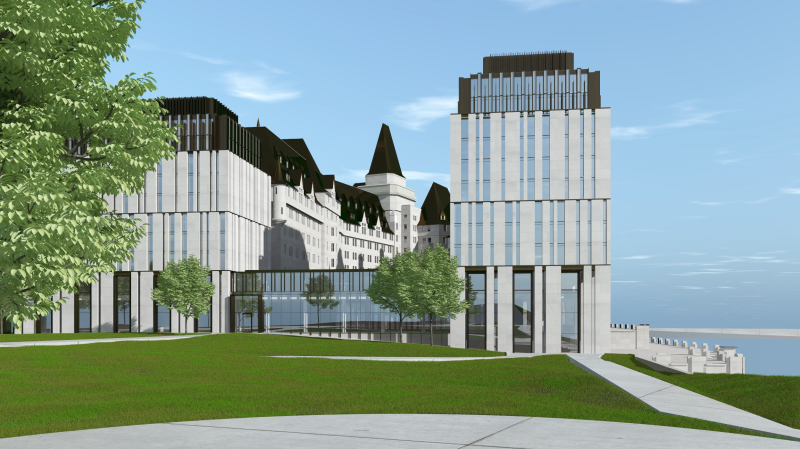 Larco Investments and Heritage Ottawa have reached an agreement on the proposed new addition to the Fairmont Chateau Laurier. (Photo courtesy: Larco Investments)