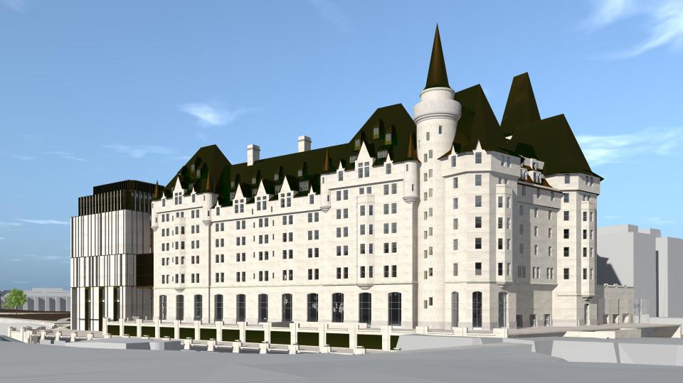 A look at the proposed new expansion of the Fairmont Chateau Laurier. (Photo courtesy: Larco Investments)