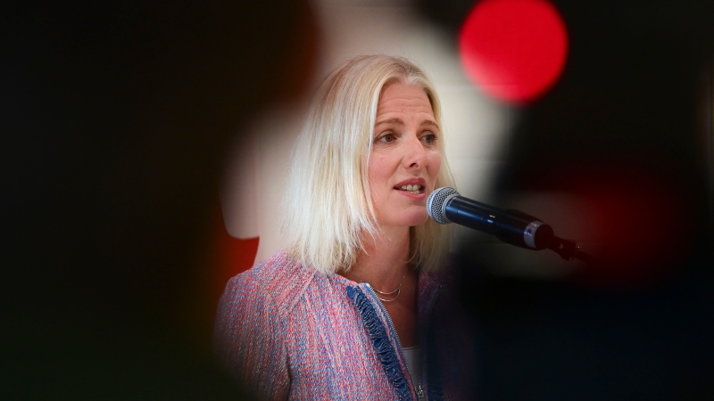 The federal government is offering up $31 million in funding for communities seeking to find ways to adapt to the realities of the COVID-19 pandemic. Minister of Infrastructure and Communities Catherine McKenna speaks during an event at the Tomlinson Family Foundation Clubhouse in Ottawa on Wednesday, Aug. 5, 2020. THE CANADIAN PRESS/Sean Kilpatrick