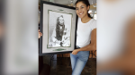 Alexandra Nordstrom was gifted a frame of Chief Poundmaker after completing her undergraduate degree. (Courtesy: Alexandra Nordstrom)