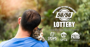 Funds raised by the 2020 edition of the Working to End Violence 50/50 Lottery will help make emergency shelters and transition houses pet-friendly. (Submitted graphic)