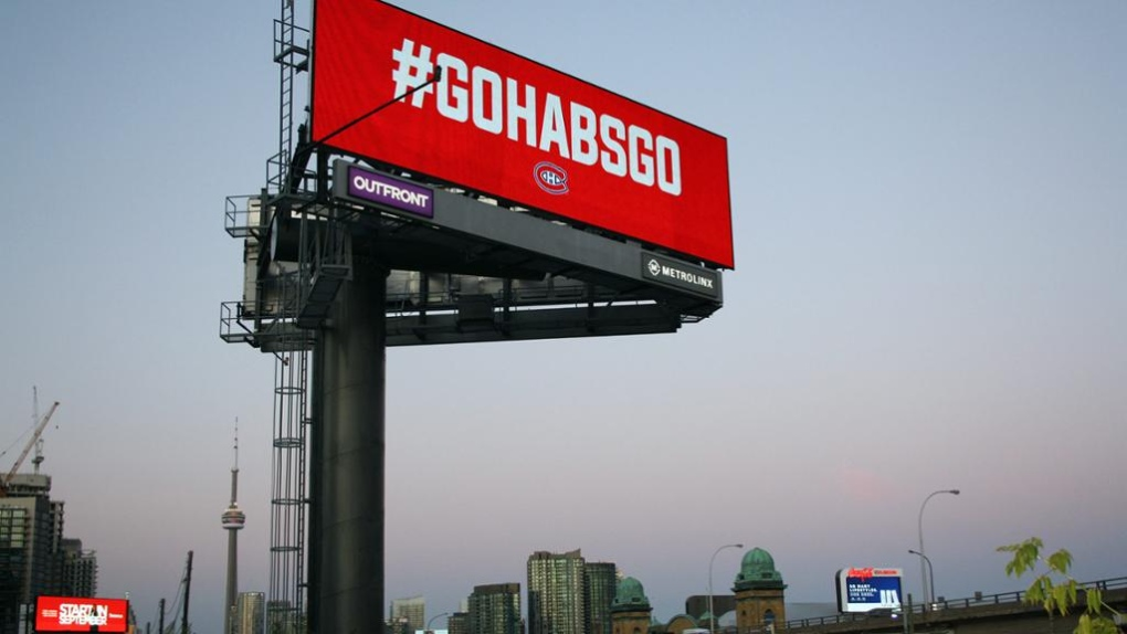Habs billboard goes up on major Toronto expressway