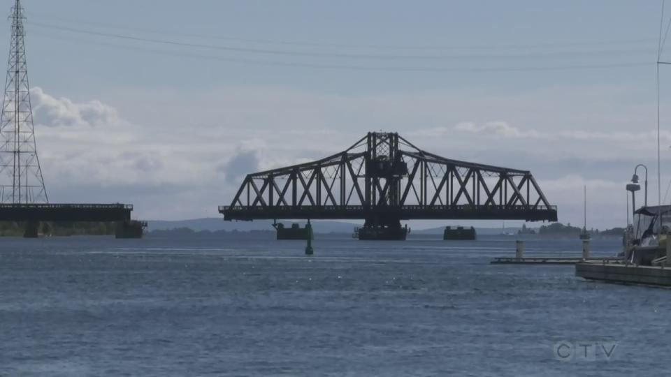Time-lapse of Little Current Swing Bridge
