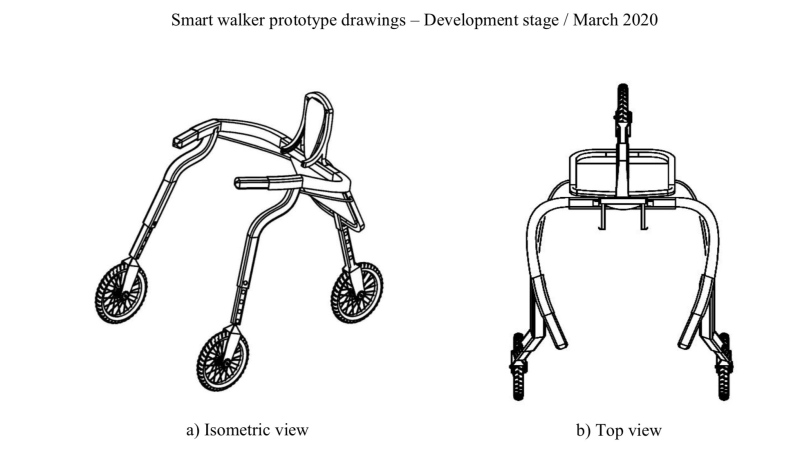 A prototype of the smart walker is seen in this image. (Source: Dr. Wagner Souza)