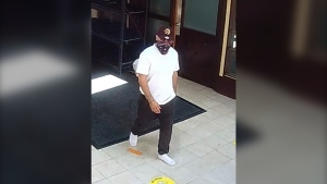 Ottawa Police say on July 28, a suspect entered the Assalam Mosque on St. Laurent Boulevard and broke into donation boxes.  (Photo courtesy: Ottawa Police Service)