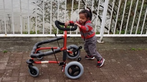 Rya Martin has undiagnosed special needs and depends on her walker to get around.