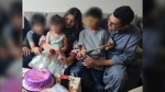 Edmonton residents Venjhar Oad, 38, and Dr. Partab Rai Oad, 38, are shown with their three children. (Supplied)