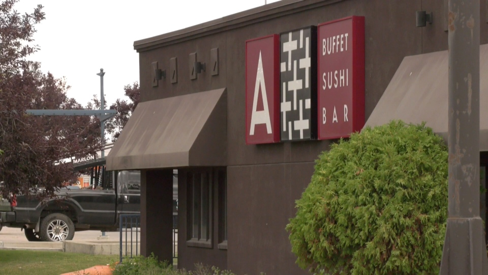 A+ Buffet Sushi and Bar, in the 6700 block of Macleod Trail S.E., was ordered to stop serving food buffet-style.