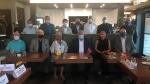 Premier Doug Ford was joined by area mayors on Thursday, Aug 13, 2020 in Windsor, Ont.