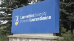 A student living in residence has tested positive for COVID-19, Laurentian University said Friday. (File)
