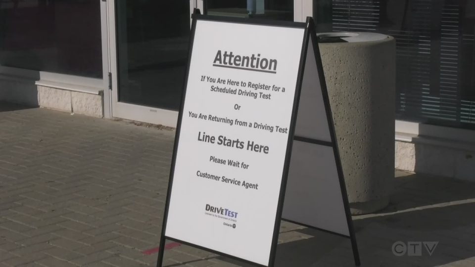 DriveTest centres across Ontario deal with major backlog caused by the pandemic. (Rob Cooper/CTV News)